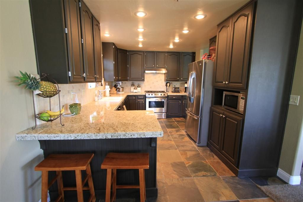 Painting Kitchen Cabinets Black Before And After