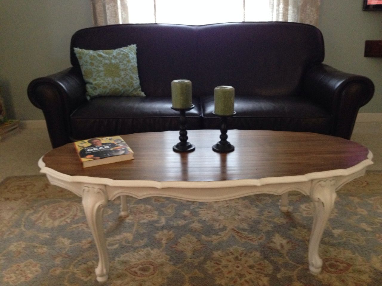 Oval Maple Coffee Table Refinished With Stain And Bright