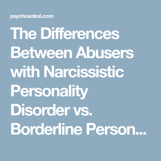 Narcissistic personality disorder and emotional abuse