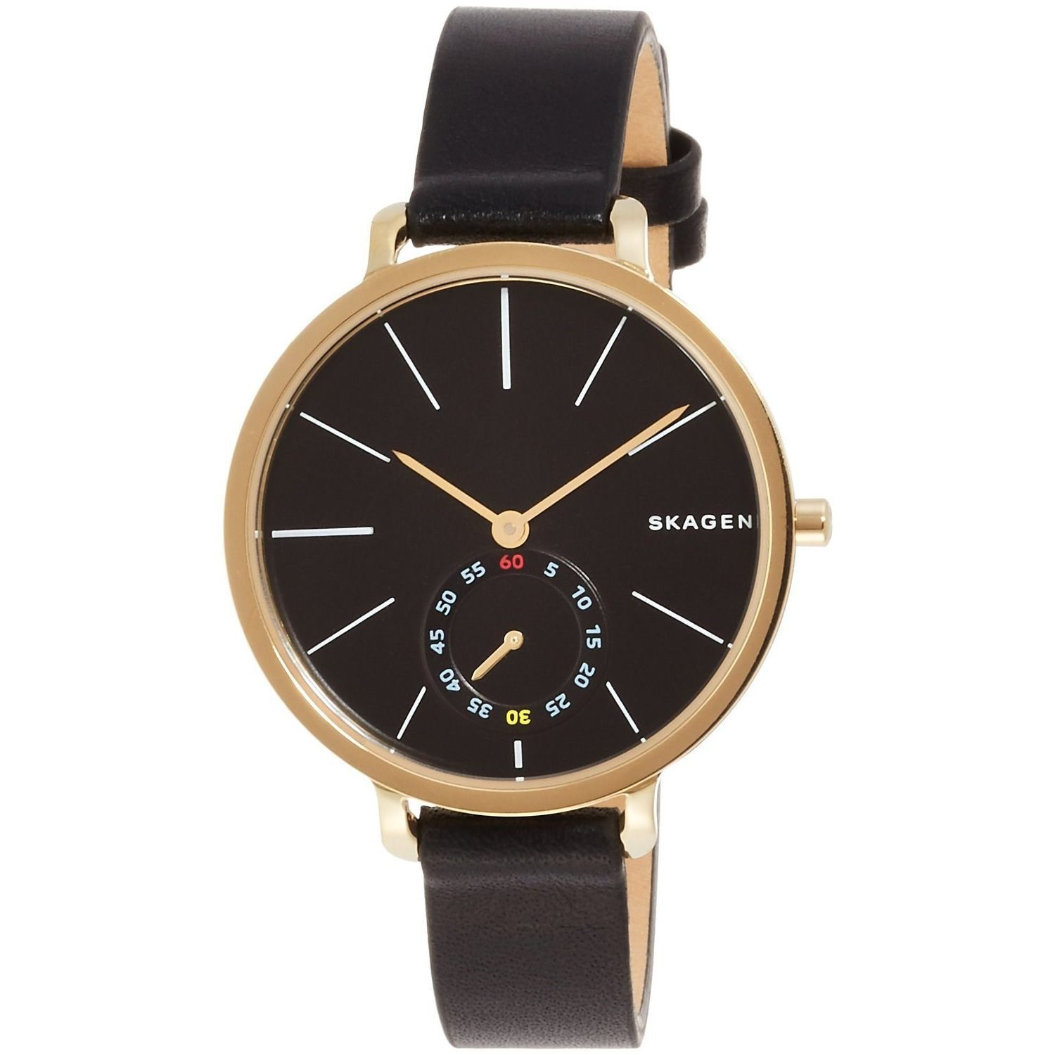 hagen s watches shipping product today free leather men skagen overstock jewelry mens brown watch