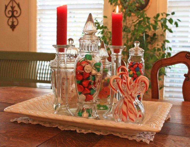 Furniture And Accessories Sweet Yummy Elegant Christmas Candy Jars