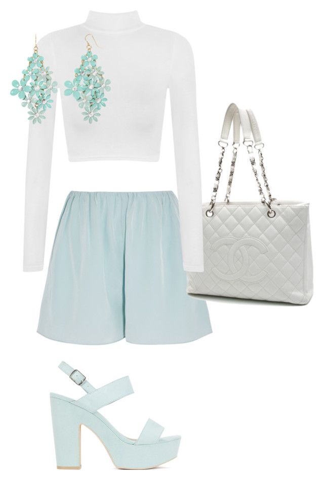 """"""""""" by trendyjanet on Polyvore featuring Elizabeth and James, Nly Shoes, Chanel, WearAll and Decree"""