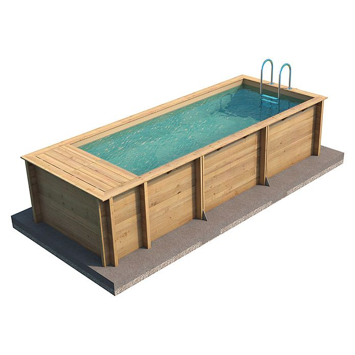 myPool Massivholzpool Pool 'n the Box (L x B x H: 626 x 253