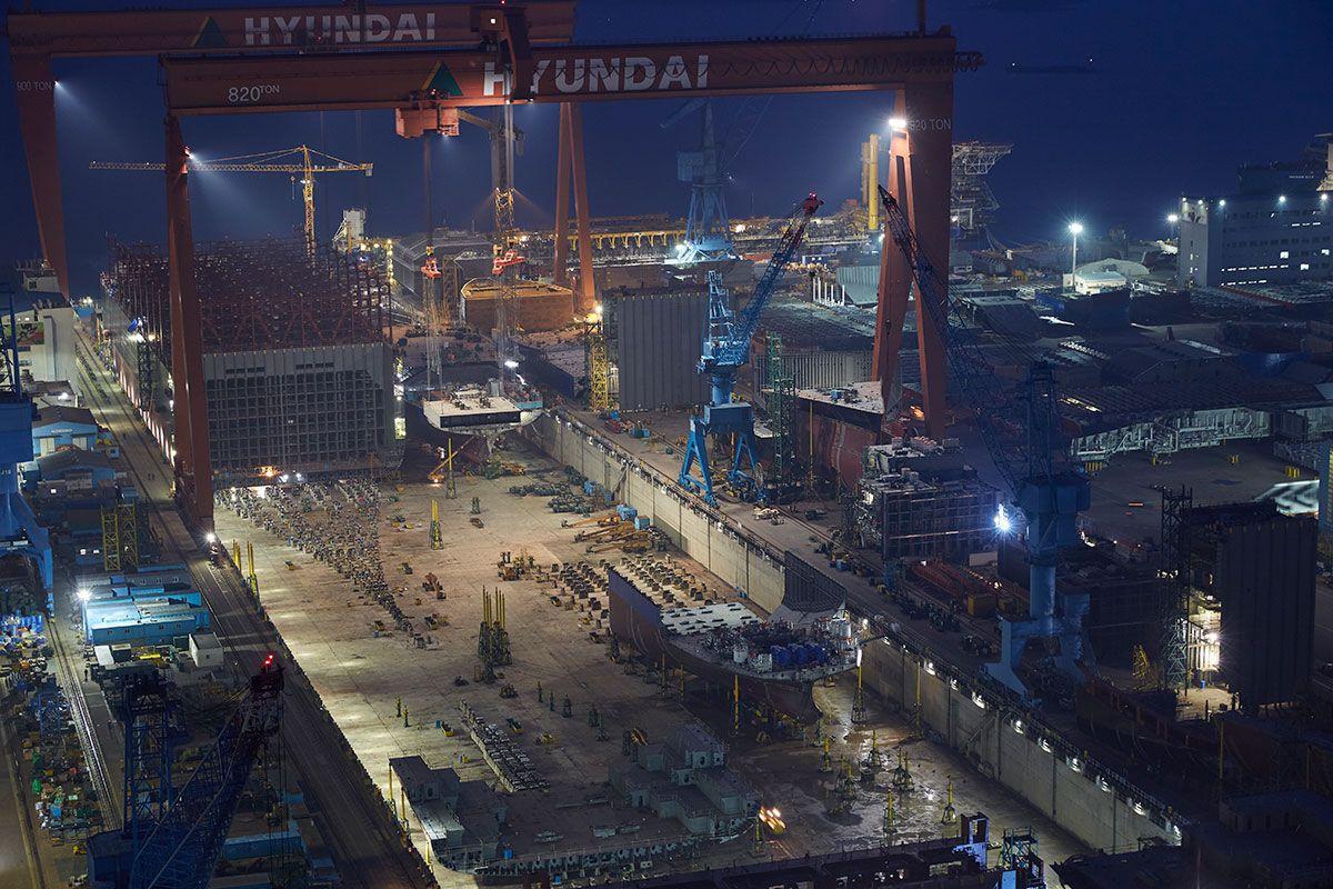 shipbuilding timelapse korea