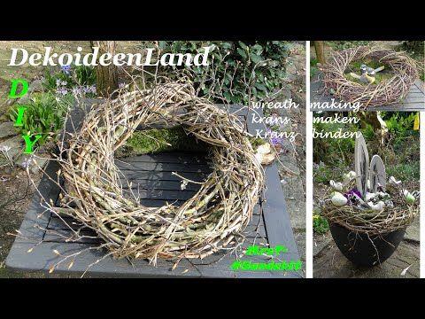 Photo of DIY: Frühlings Deko: Kranz binden mit Zweigen schnell & einfach I krans maken I making a twig wreath