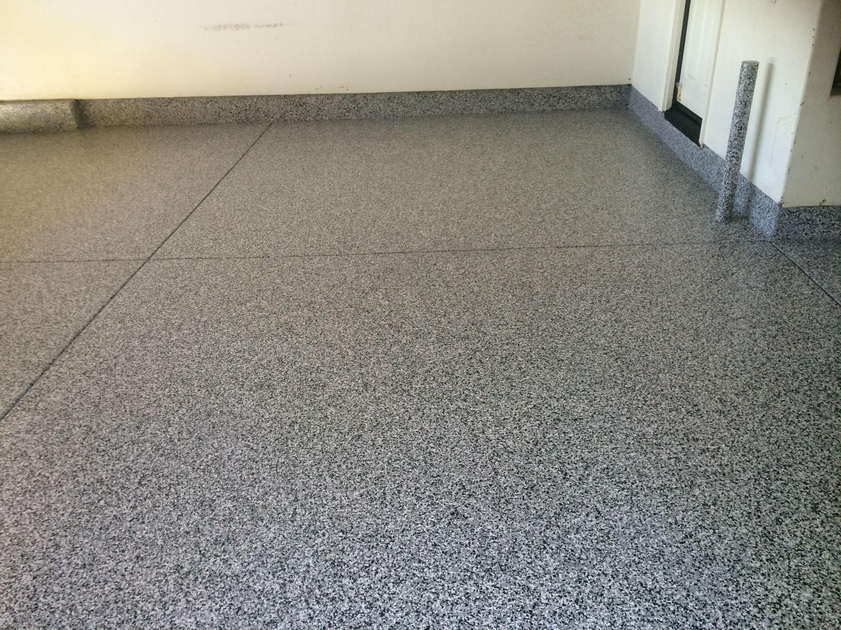 Tuxedo Vinyl Chips Garage Floor Epoxy Coating