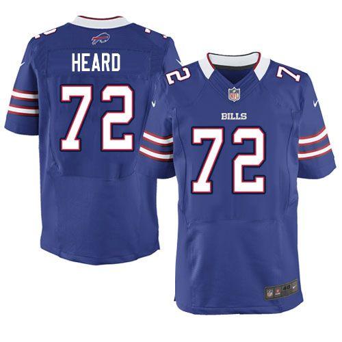 Nike Elite NFL Jersey Blue Men Kellen Heard Jersey Buffalo Bills #72 Jersey Sale