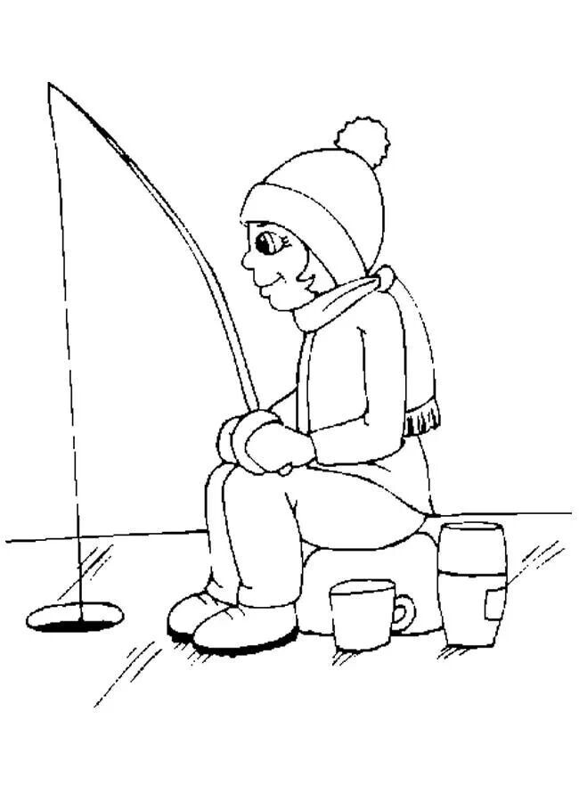 Ice Fishing Coloring Page Coloring Pages Quiet Book Preschool Crafts