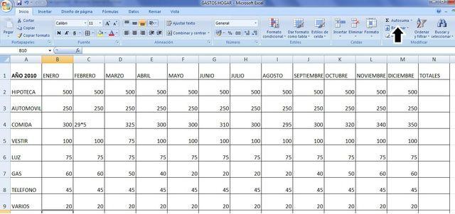 Crea Tu Plantilla Electrónica Para El Presupuesto De La Casa Control De Gastos Plantillas Excel Trucos De Excel