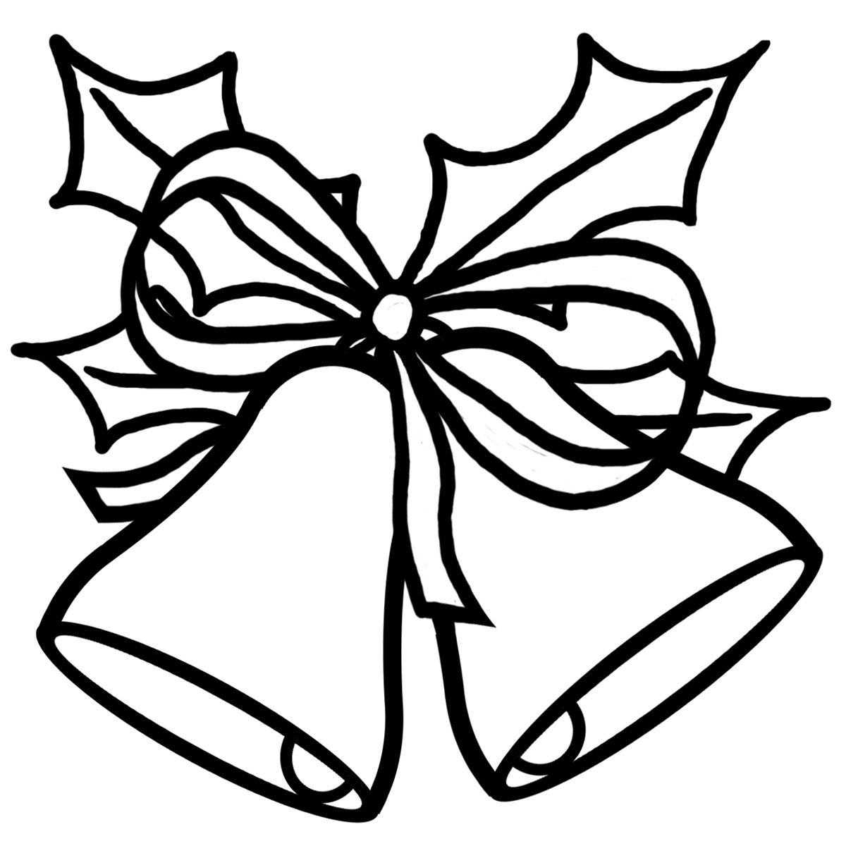 Clip Art Black And White Black And White Clip Art Illustration Of Holiday Or Christmas Bells Christmas Tree Outline Holiday Clipart Xmas Clip Art