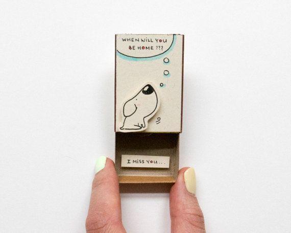 Bitte lesen Sie die Bewertungen unserer Produkte in unserem alten Shop hier: shop3xu.etsy.com  Dieses Angebot ist für eine Streichholzschachtel. Dies ist eine großartige Alternative zu einem Jubiläum-Karte. Überraschen Sie Ihre lieben mit einer niedlichen privaten Nachricht in dieser
