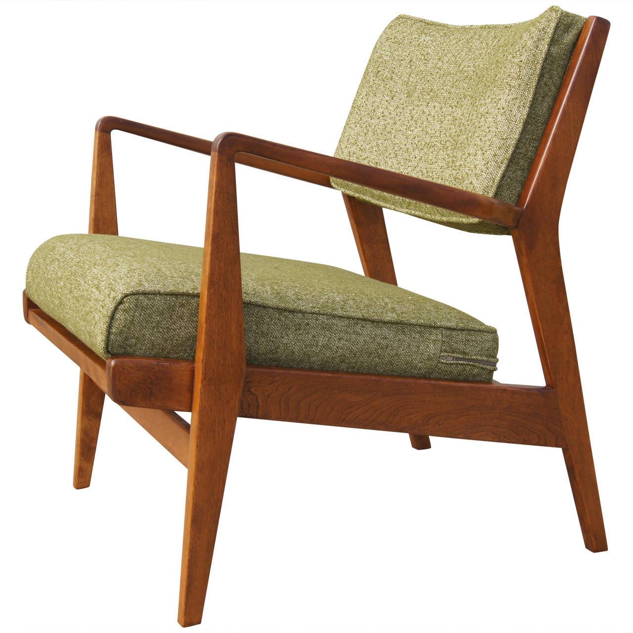 Low Armchair Model U 430 In Walnut By Jens Risom Walnut