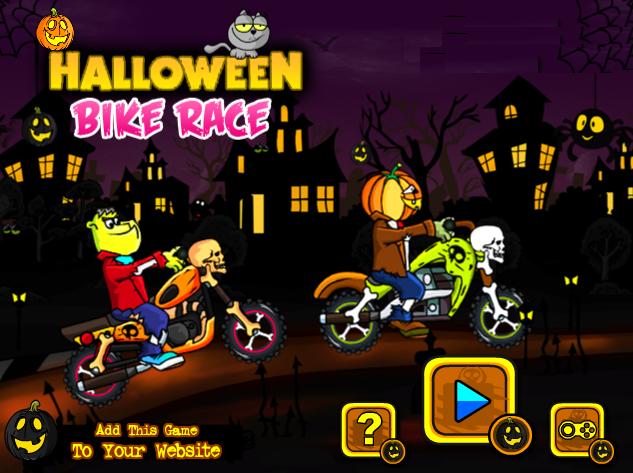 Play Halloween Bike Race Hi! folks happy Halloween, Its