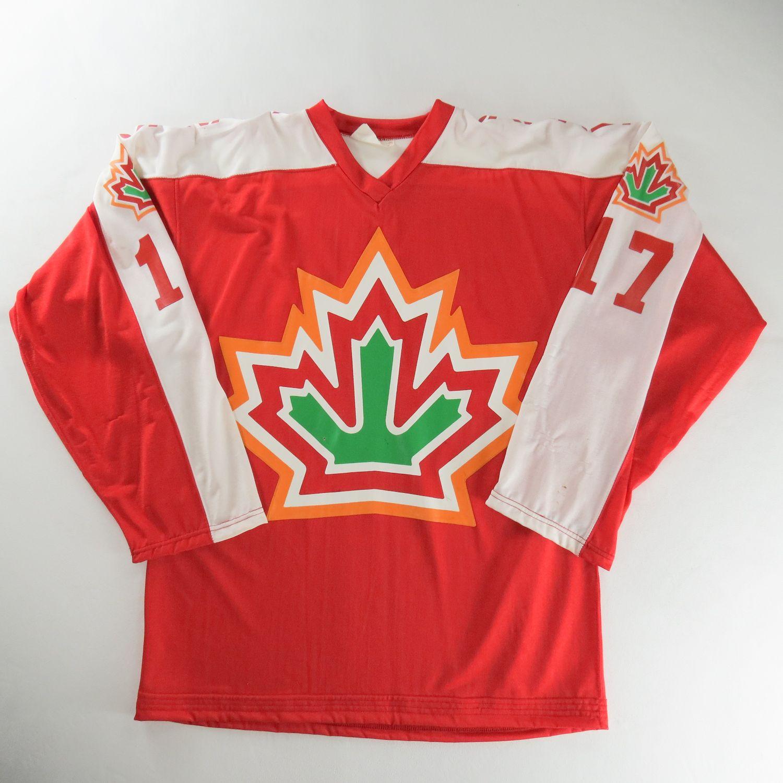 Team Canada Jersey 1977 World Championships Eishockey Hockey