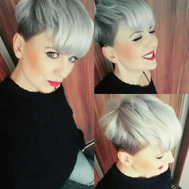 Eine auffallende und attraktive Kurzhaarfrisur? Was hältst Du von diesen 12 Frisuren in zwei Farben! - Neue Frisur