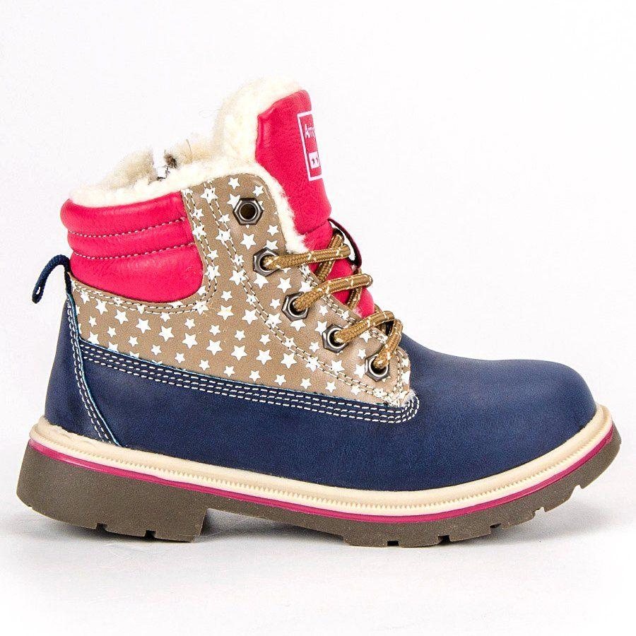 Kozaki Dla Dzieci Arrigobello Arrigo Bello Niebieskie Dzieciece Ocieplane Buty Zimowe Hiking Boots Timberland Boots Boots