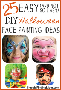 Face Painting Ideas: 25 Easy (and Not So Easy) DIY Halloween