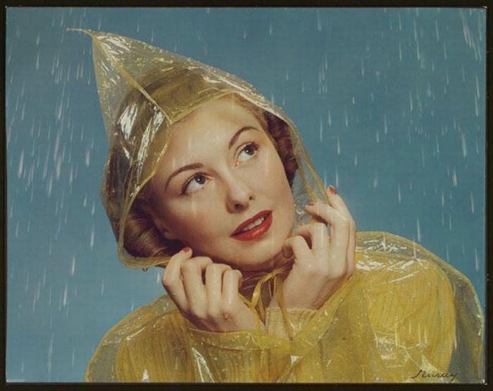Vintage rain bonnet