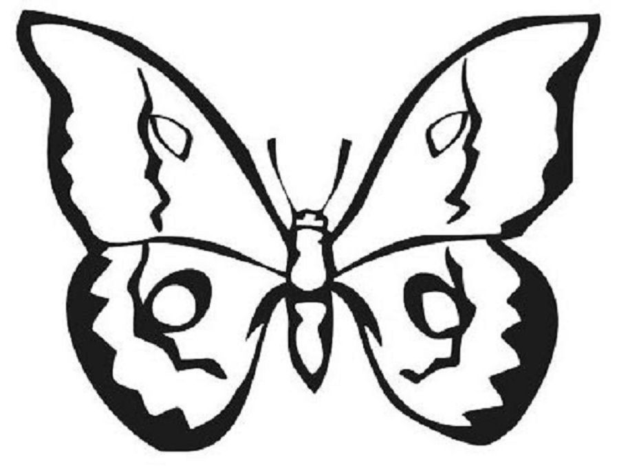 nice butterflies coloring pictures Special Picture