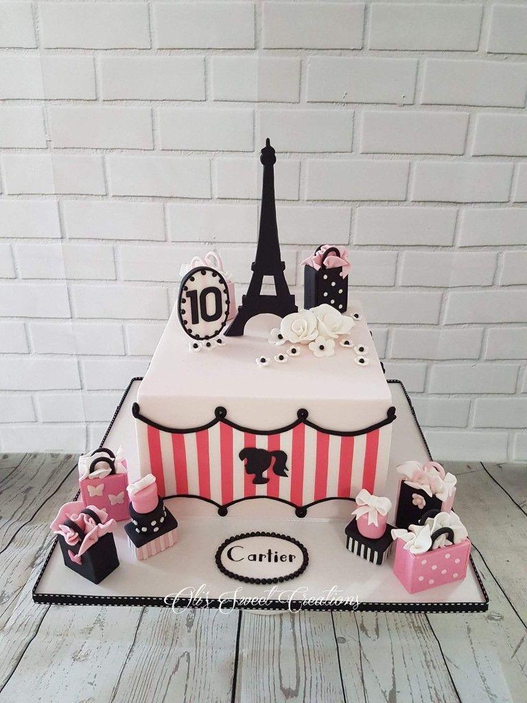 Paris Themed Birthday Cake Cakes Pinterest Birthday Cakes And Cake
