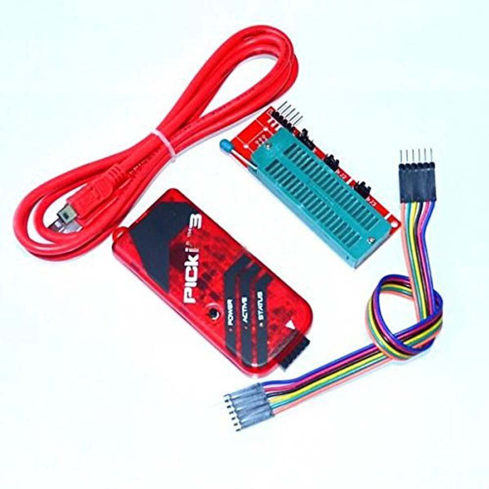 JUSTPERFECT PICKIT3 Programmer + PIC ICD2 PICKit 2 PICKIT 3 Programming Adapter Universal Programmer Seat FZ0508