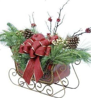 little sled CHRISTMAS DECORATING Pinterest Sled
