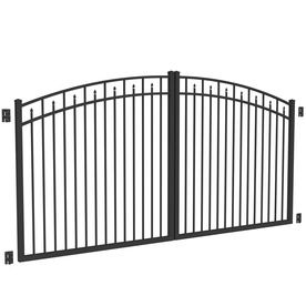 Freedom Black Aluminum Driveway Gate Common 12 Ft Actual 11 Ft 9 In With Images Aluminum Driveway Gates Driveway Gate Gate