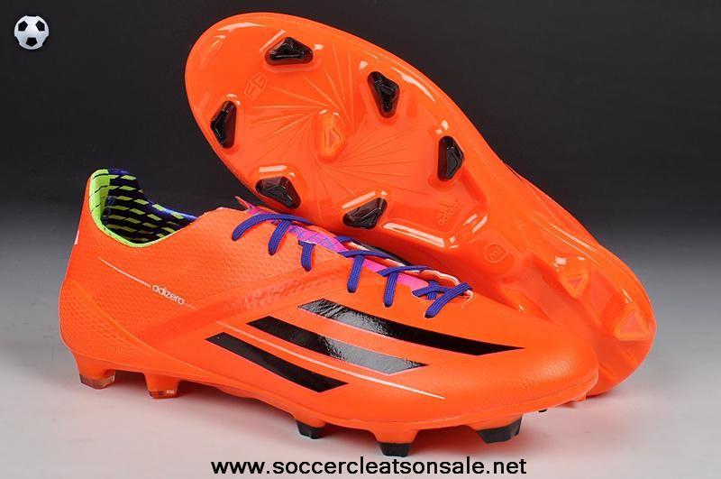 best value b0d8a b35a4 Fashion Orange Black World cup 2014 Adidas F50 adiZero TRX FG Soccer Boots  For Sale