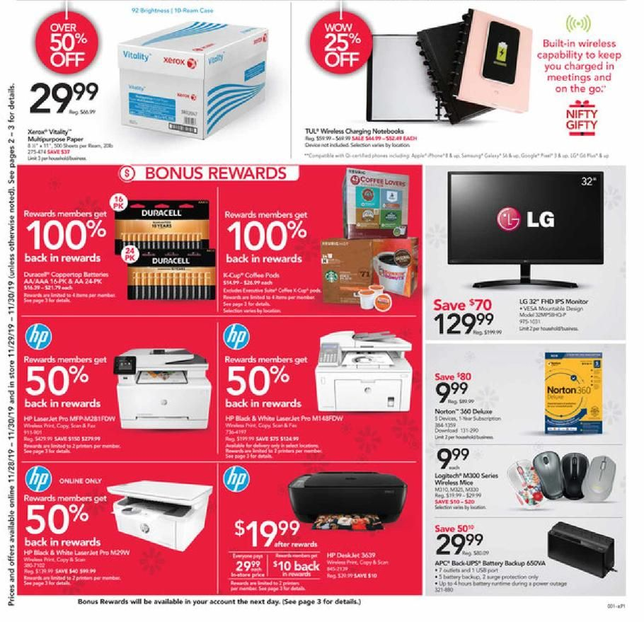 Office Depot and Office Max Black Friday Ad Scan, Deals