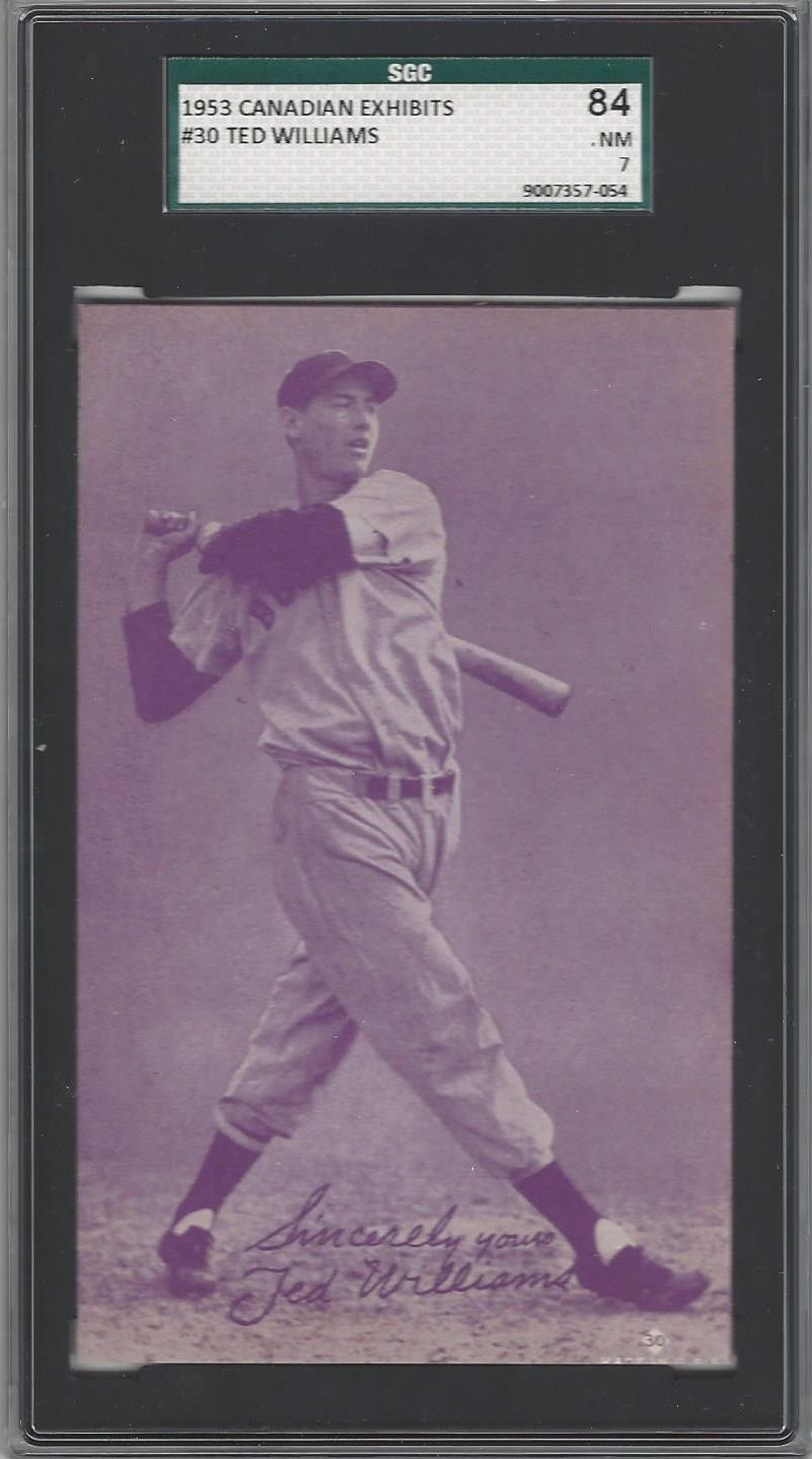 Ted Williams 1953 Canadian Exhibits Sgc 84 Nm 7 Ted