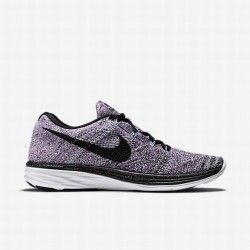 cheap for discount 3aebc 5d9b0 Nike Women s Fuchsia Glow Vapour Green Polarised Blue Black Flyknit Lunar 3 Running  Shoe
