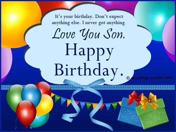 For your sons birthday it is important to send the right – Happy Birthday Greetings for Son
