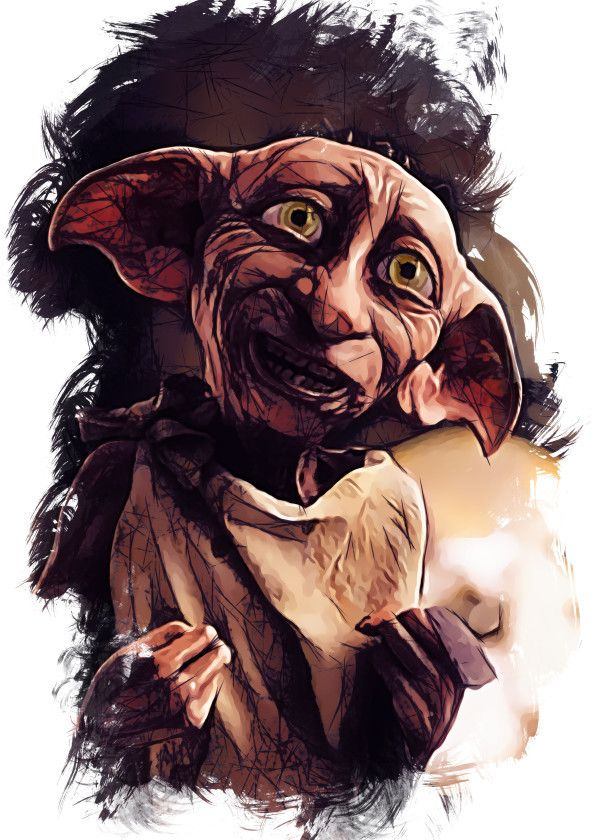 Harry Potter Character Sketch Dobby Displate Artwork By Artist Apocalypticaboy Part Of An 8 Piece Set Featuring Based On The