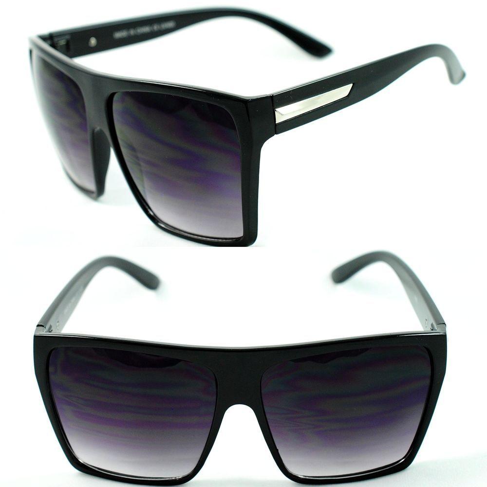 3bd9f99627ab8 Womens Oversized Diva Huge Square Traperzoid Super Flat Top Celebrity  Sunglasses  Square