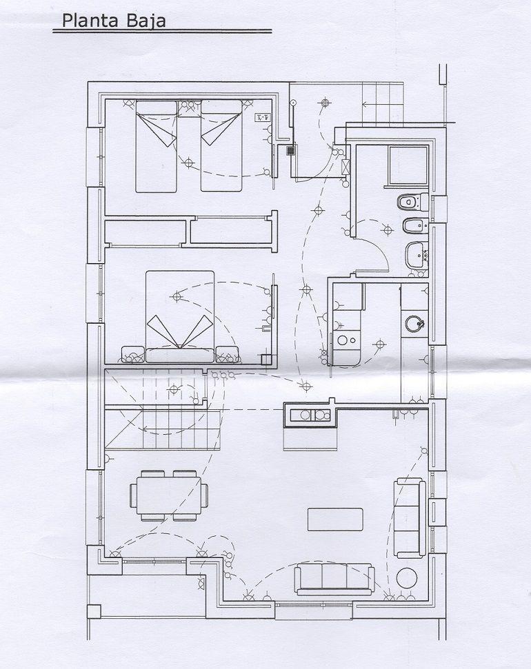 Plano electrico vivienda plomeria pinterest plano for Hacer plano vivienda