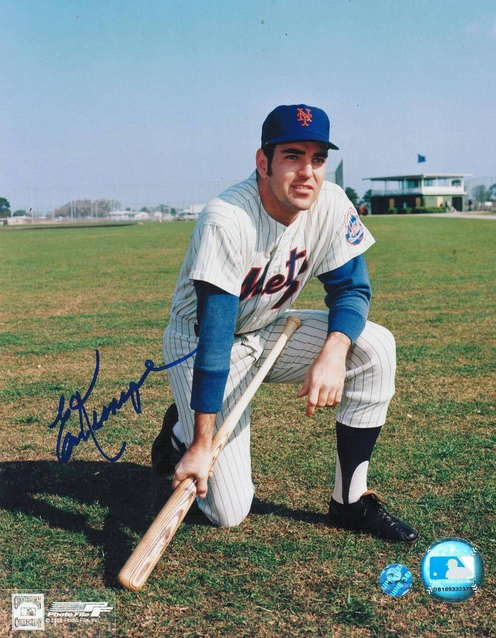 Ed Kranepool New York Mets Autographed 8x10 Photo Kneeling New York Mets Mets Baseball Mets