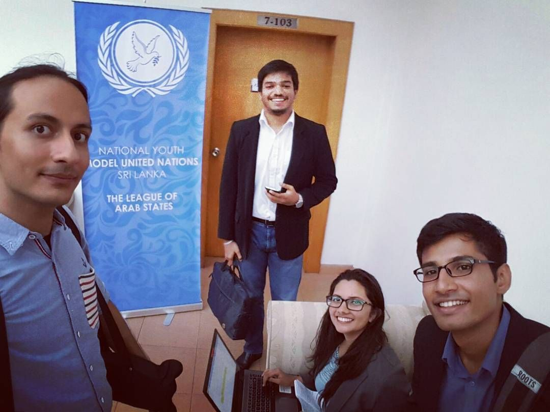 IntCa team wrapping up the day's coverage at BCIS for #NYMUN2016 but work goes on into the rest of the evening #IntcaGram #MUN #lka #Conference