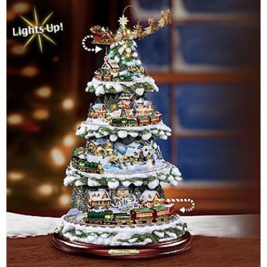 Christmas Tree Trains based upon works of Thomas Kinkade - Thomas Kinkade Christmas Works Thomas Kinkade Art And Objects