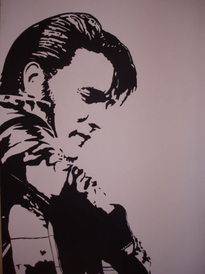 Original Acrylic Painting Of Elvis Presley On 30x40inch Canvas For Sale 250 00 If Intrested Contact Me At Elvis Tattoo Black Line Tattoo Elvis Presley Photos