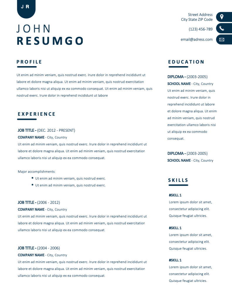 Nyx Free Resume Template Resumgo Simple Resume Template Free Professional Resume Template Resume Template Professional