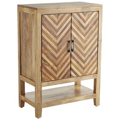 With its rich hardwood grain, rosewood accents and parquet-patterned doors, our Kadhi Wine Cabinet can be admired even if it's always closed. But then, you'd miss the party. A gentle pull on the metal hardware reveals generous storage for glassware, stemware, bottles and bar accessories. So practical. Yet, such a celebration of artistry. Each Kadhi design is individually crafted by traditional woodworkers, so no two cabinets will be alike. If that isn't an open-and-shut case for checking it…