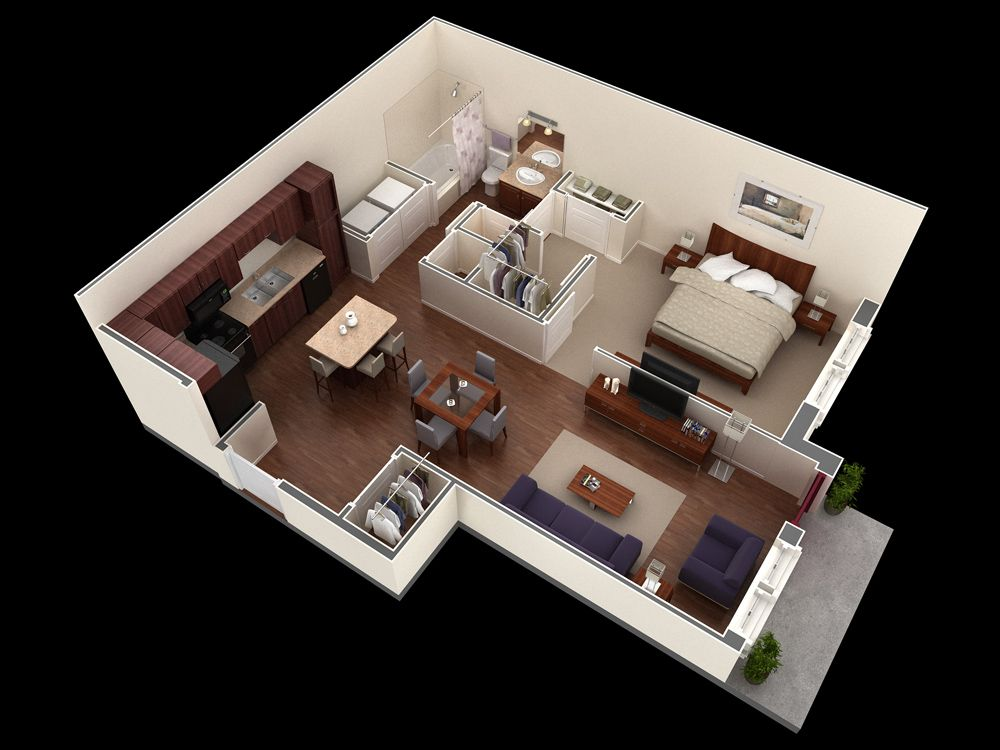 3d 2 Bedroom Apartment Floor Plans Bedroom Apartment In