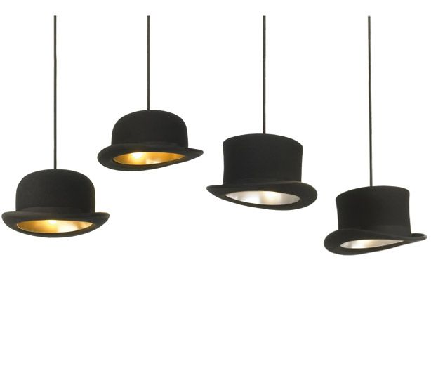 44c01869c44 JEEVES by jake phipps Pendant lights made from authentic bowler hats.  Price  £155.00