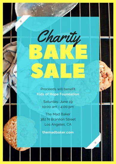 Cookies Bake Sale Charity Poster Bake sale Pinterest Charity - clothing drive flyer template