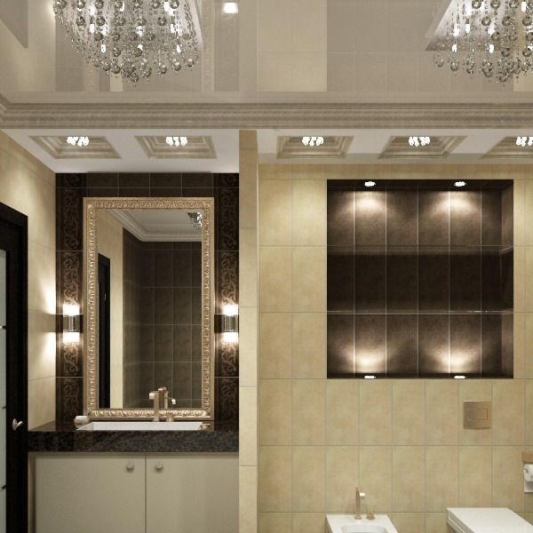Bathroom Lighting Ideas At Apartment With Unique Interior Design By D Proekt
