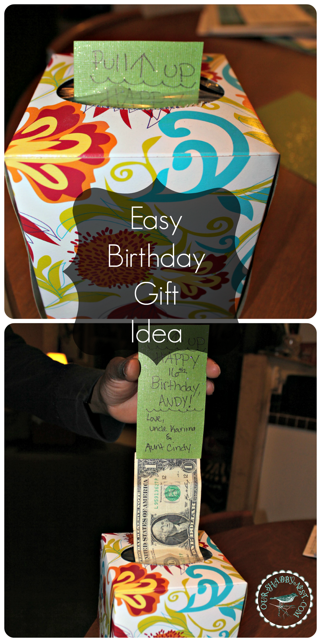 Birthday t idea Money Homemade Gifts Pinterest