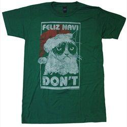 68789006d03ee Grumpy Cat Feliz Navi Don't Adult T-shirt | Christmas T-Shirts ...
