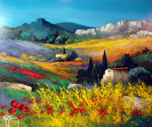 Landscape Abstract Painting Style Modern Wall Art Canvas