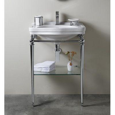 Florian Londra Console Table Bathroom Sink With Towel Bar And Shelf Console Sink Bathroom Sink Console Sinks