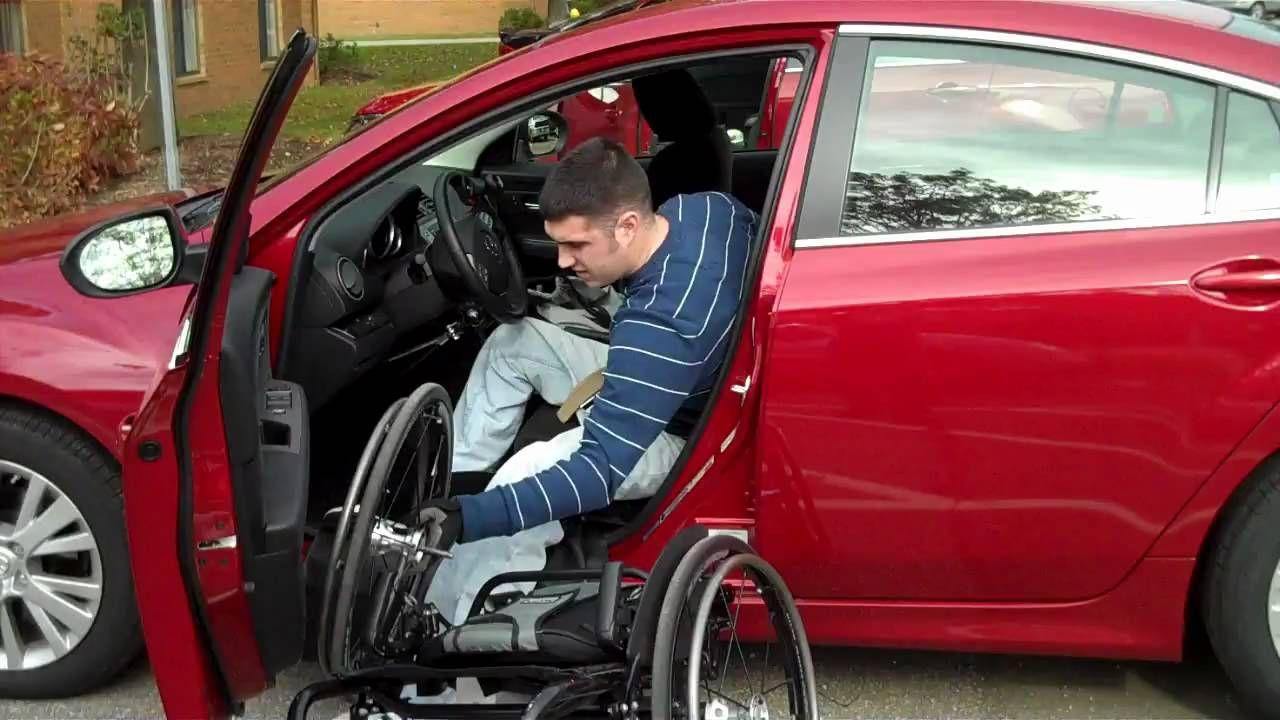 Wheelchair Car Transfer by Josh Brunner in a Quickie GT